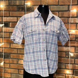 Cabelas Soft Canvas Trail Short Sleeved Button Up
